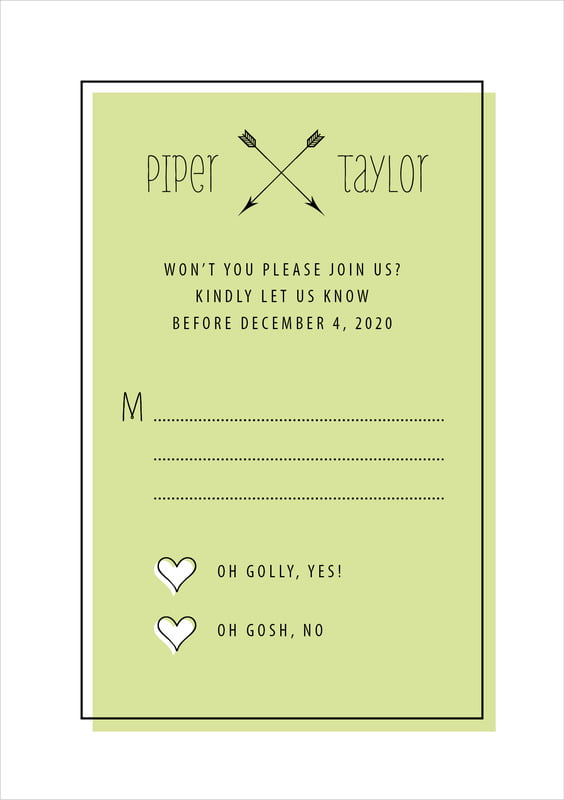custom tall response cards - lime - katniss (set of 10)