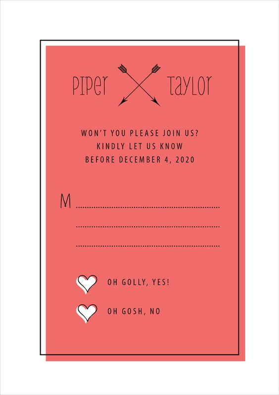 custom tall response cards - deep coral - katniss (set of 10)