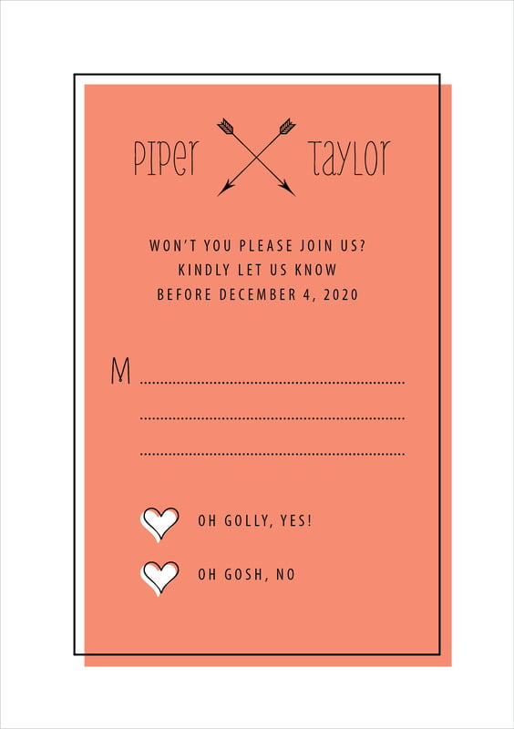 custom tall response cards - coral - katniss (set of 10)