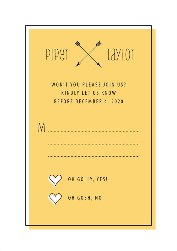 custom tall response cards - tangerine - katniss (set of 10)