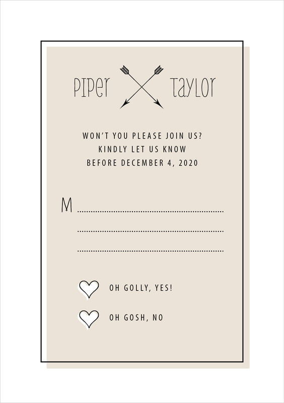 custom tall response cards - champagne - katniss (set of 10)
