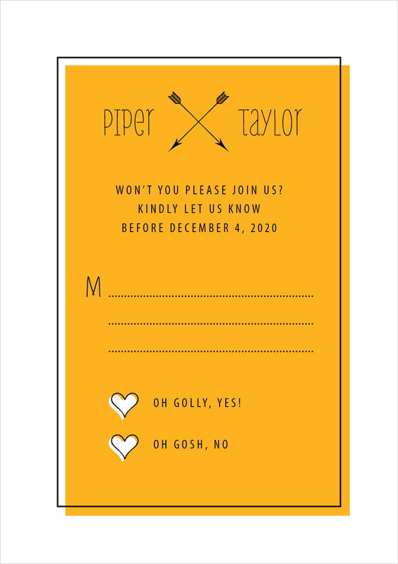 custom tall response cards - orange - katniss (set of 10)