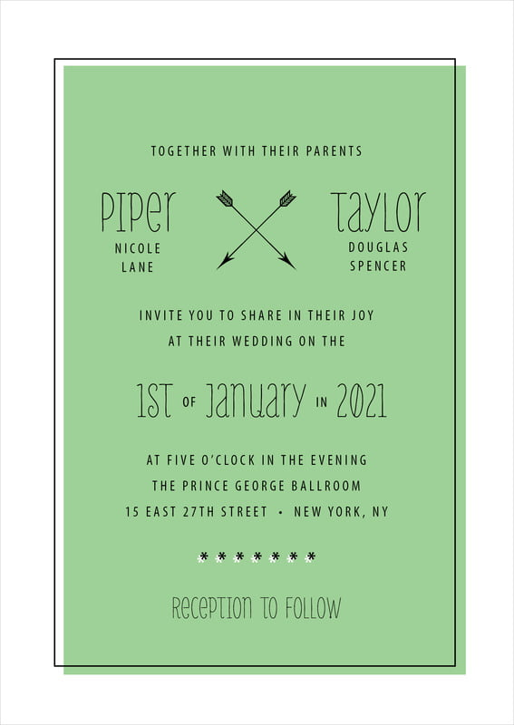 custom invitations - light green - katniss (set of 10)