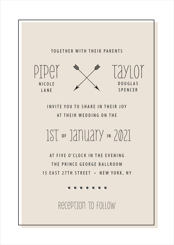 custom invitations - champagne - katniss (set of 10)