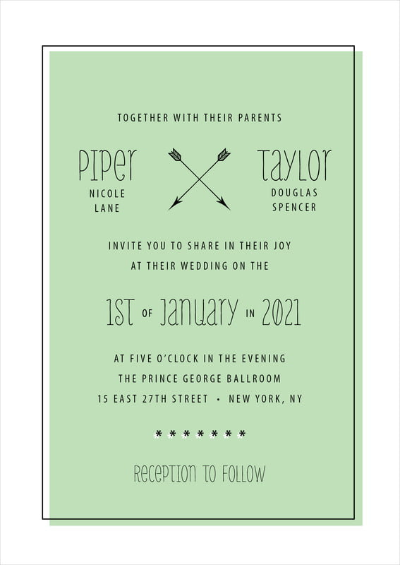 custom invitations - mint - katniss (set of 10)
