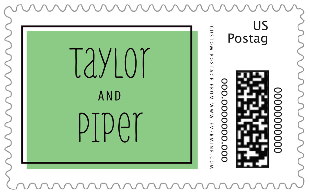 custom large postage stamps - light green - katniss (set of 20)