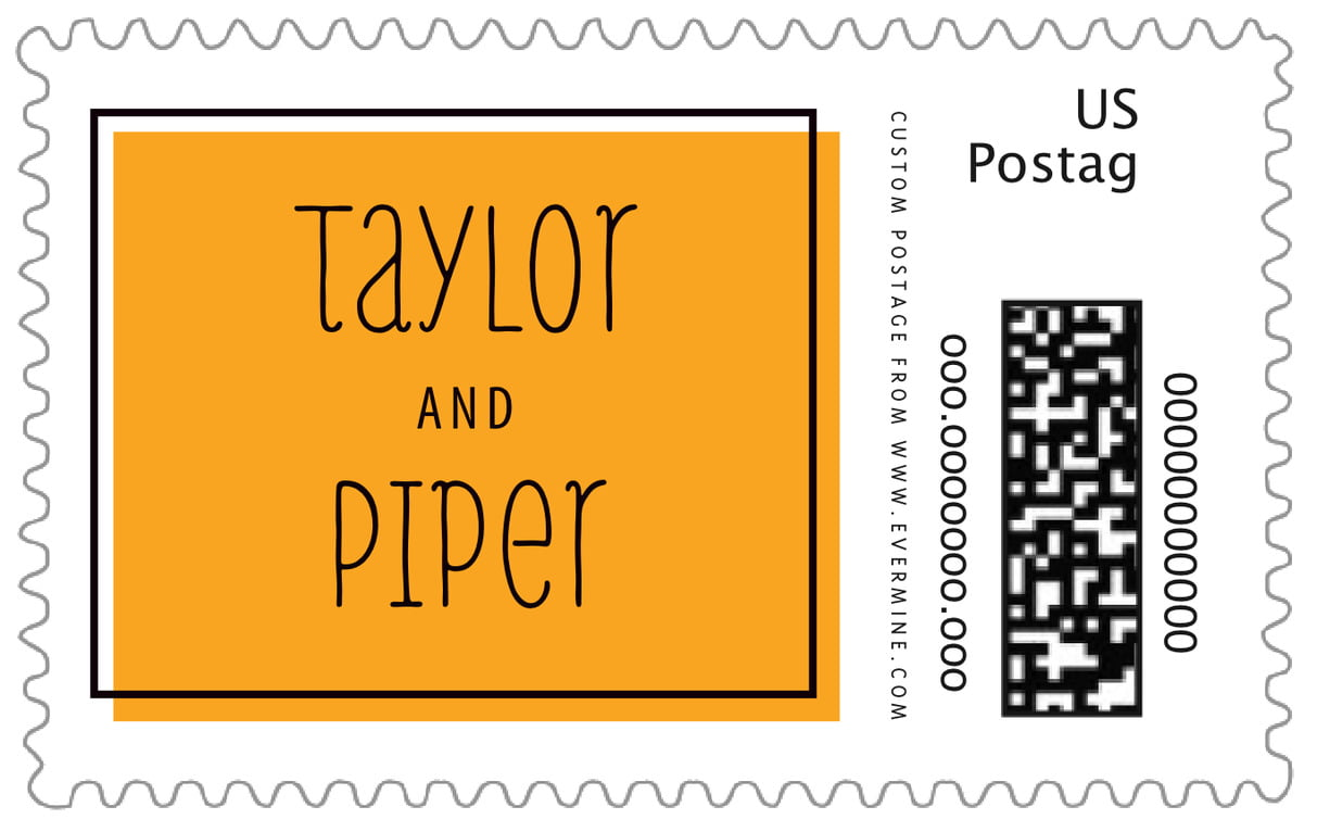 custom large postage stamps - orange - katniss (set of 20)