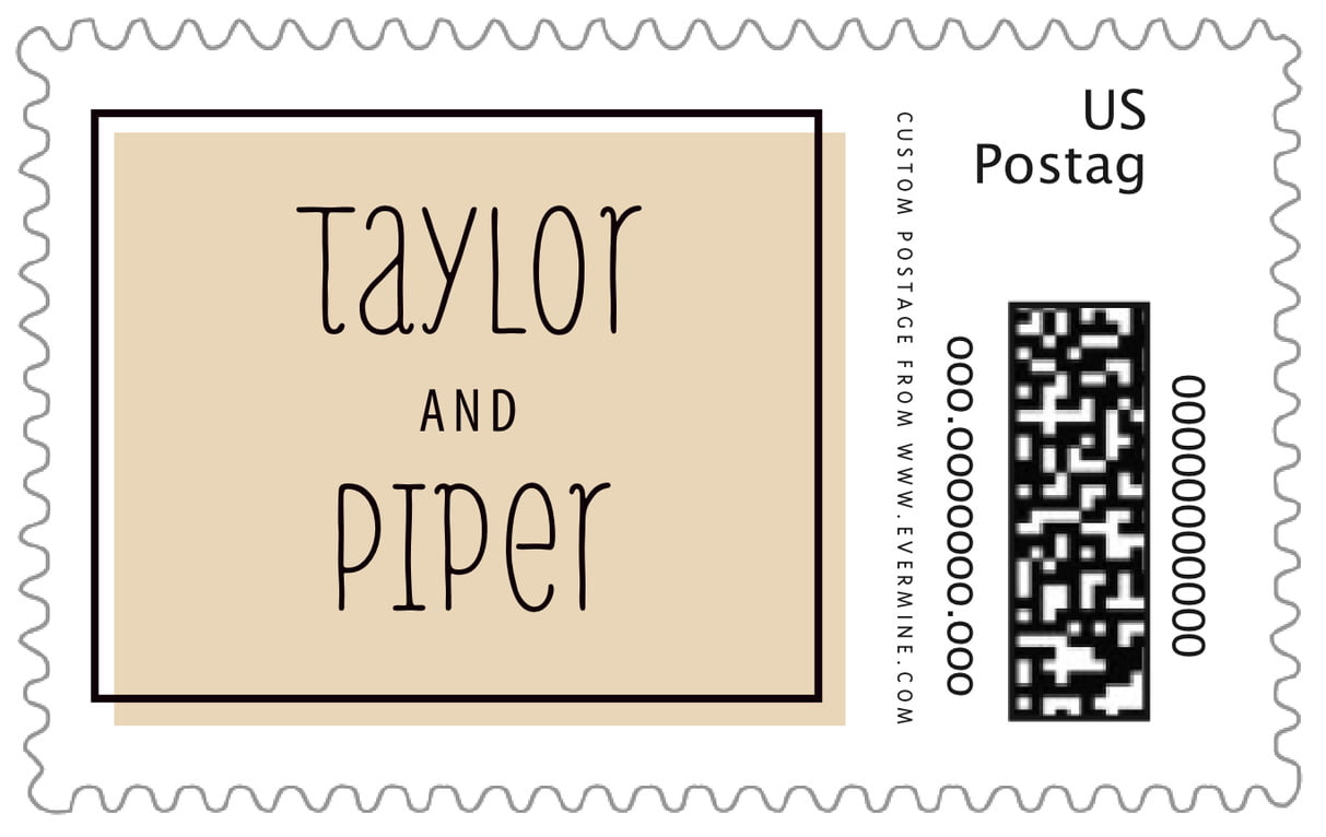 custom large postage stamps - cappuccino - katniss (set of 20)