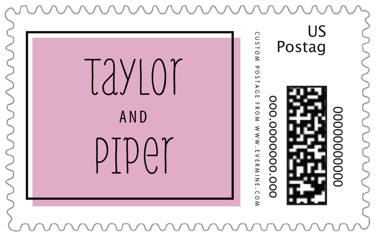 custom large postage stamps - peony - katniss (set of 20)