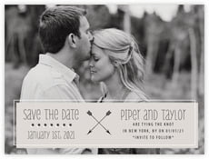 Katniss Save The Date Card In Stone