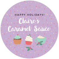 Cupcake Cheer small canning jar toppers