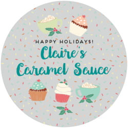 Cupcake Cheer large canning jar toppers