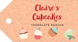 Cupcake Cheer luggage tags