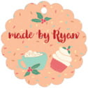 Cupcake Cheer scallop hang tags