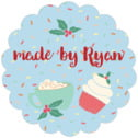Cupcake Cheer scallop labels