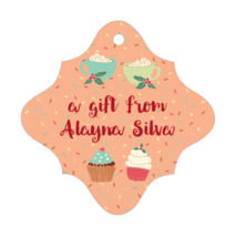 Cupcake Cheer fancy diamond hang tags