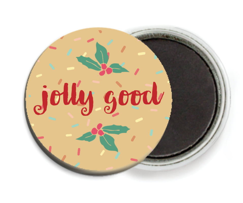 custom button magnets - deep gold - cupcake cheer (set of 6)