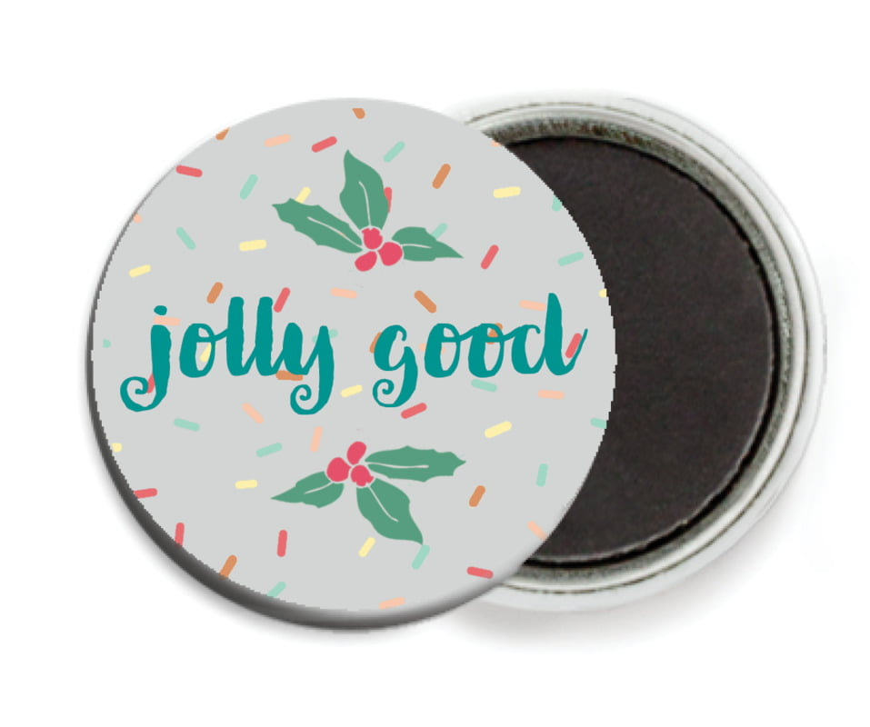 custom button magnets - stone - cupcake cheer (set of 6)