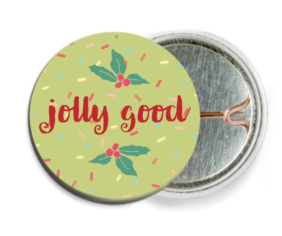 custom pin back buttons - green tea - cupcake cheer (set of 6)