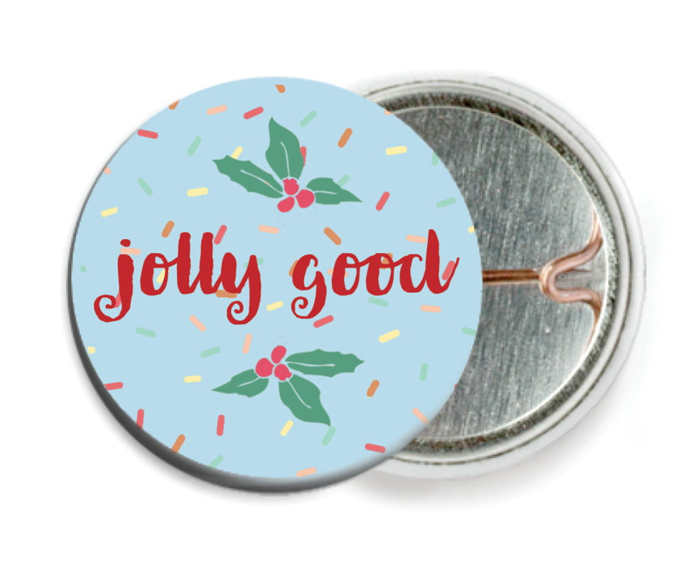 custom pin back buttons - sky - cupcake cheer (set of 6)