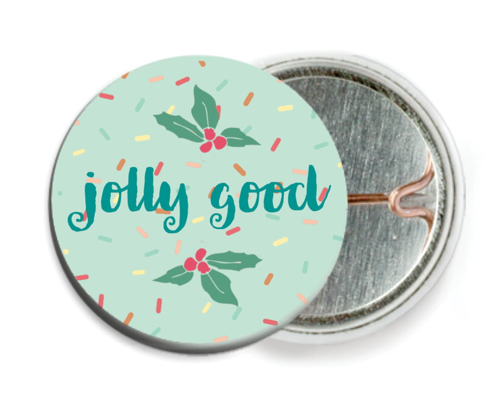 custom pin back buttons - mint - cupcake cheer (set of 6)