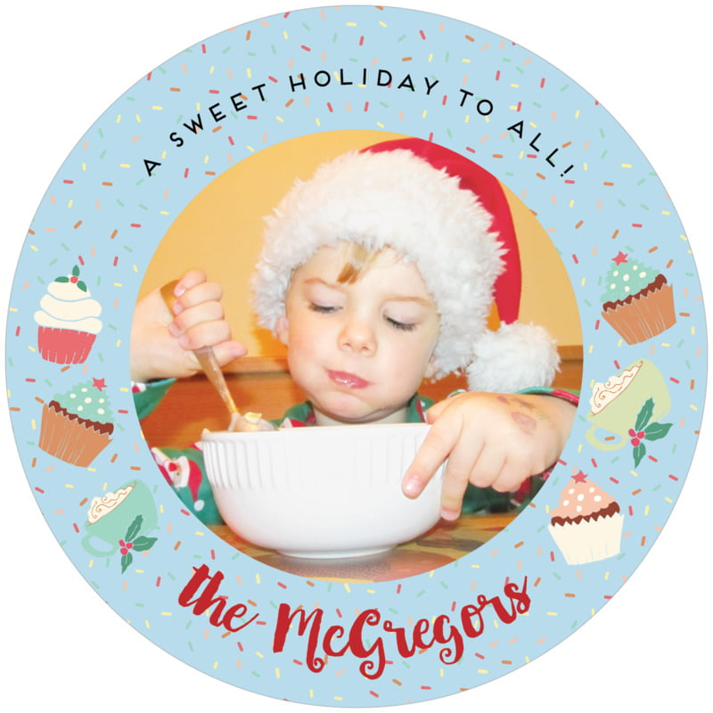 round holiday coasters - sky - cupcake cheer (set of 12)