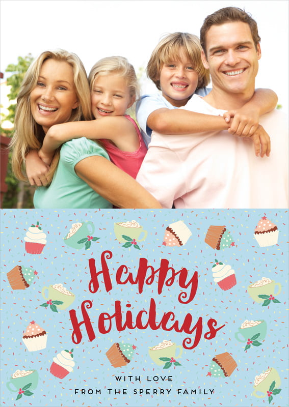 holiday cards - sky - cupcake cheer (set of 10)