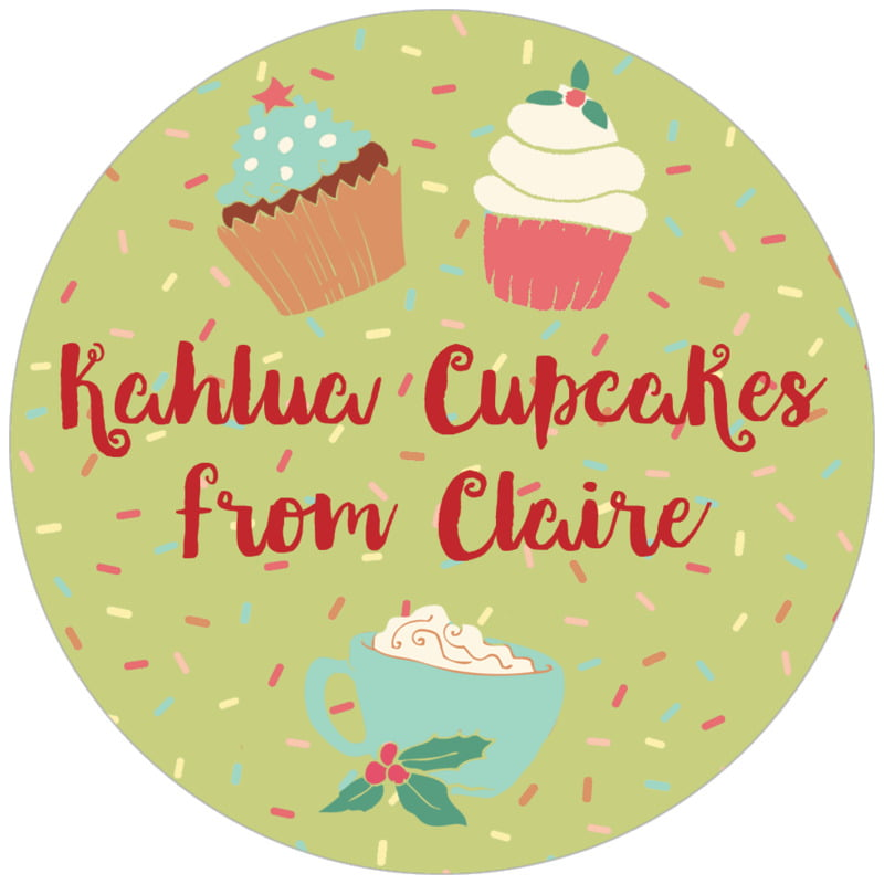 circle food/craft labels - green tea - cupcake cheer (set of 20)