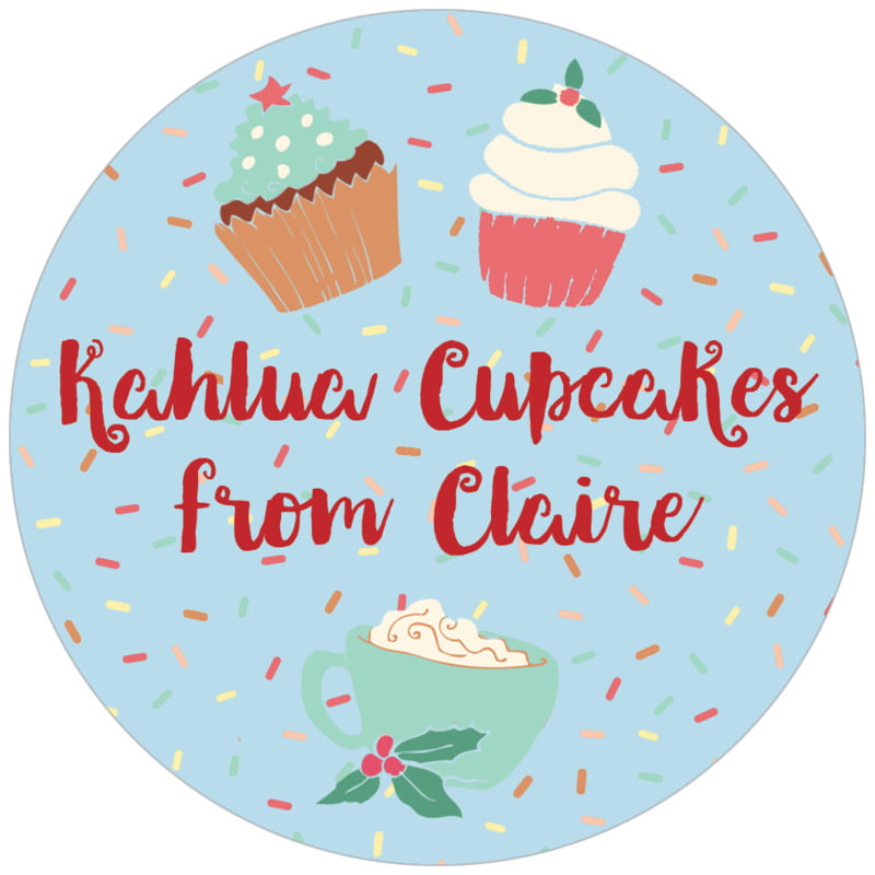 circle food/craft labels - sky - cupcake cheer (set of 20)