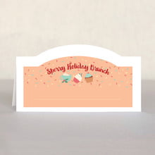 Cupcake Cheer Place Card In Peach