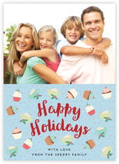 Cupcake Cheer photo cards - vertical