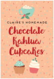 Cupcake Cheer holiday labels