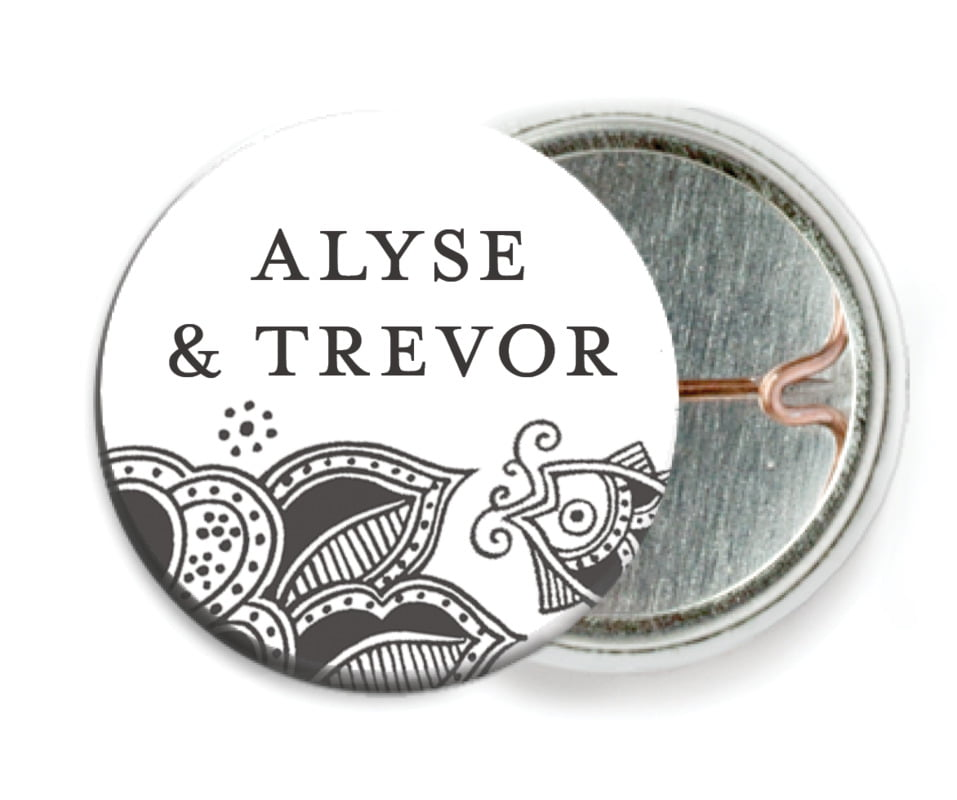 custom pin back buttons - tuxedo - sea & sky (set of 6)