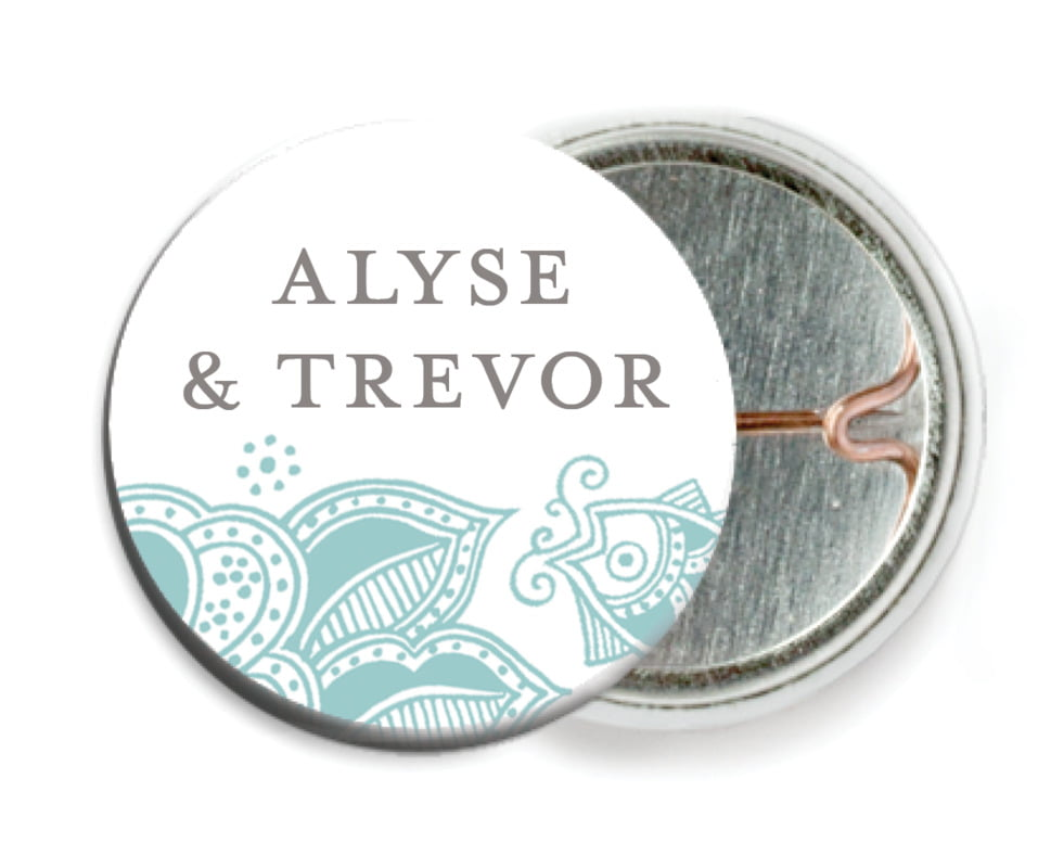 custom pin back buttons - sea glass - sea & sky (set of 6)