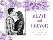 custom save-the-date cards - plum - sea & sky (set of 10)