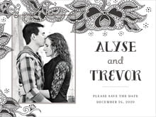 custom save-the-date cards - tuxedo - sea & sky (set of 10)