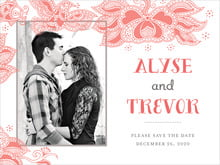 custom save-the-date cards - coral - sea & sky (set of 10)
