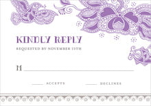 custom response cards - plum - sea & sky (set of 10)