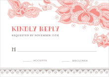 custom response cards - coral - sea & sky (set of 10)