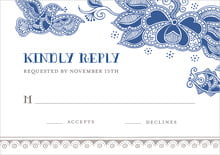 custom response cards - deep blue - sea & sky (set of 10)