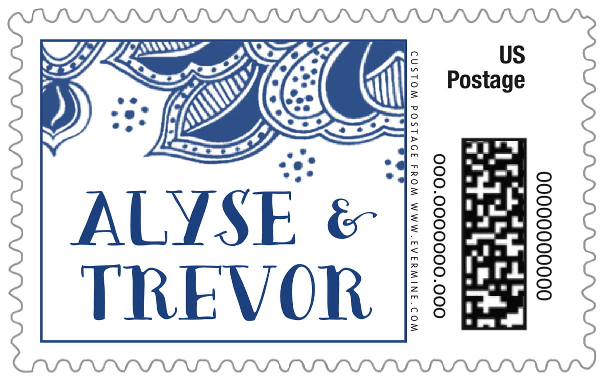 custom large postage stamps - deep blue - sea & sky (set of 20)