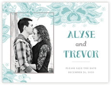 Sea & Sky save the date cards