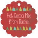 Christmas Tree scallop hang tags