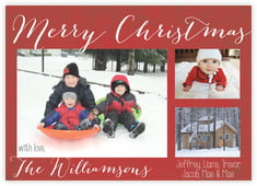 Christmas Tree photo cards - horizontal
