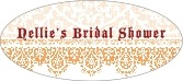 Lace oval labels