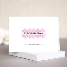 Lace bridal shower note cards