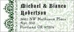 Lace designer address labels