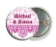 Lace pin back buttons