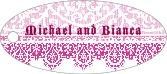Lace oval hang tags