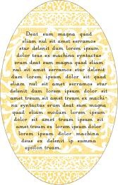 Lace oval text labels